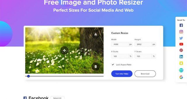 Justera bildstorlekar för alla Sociala Medier med ett klick
